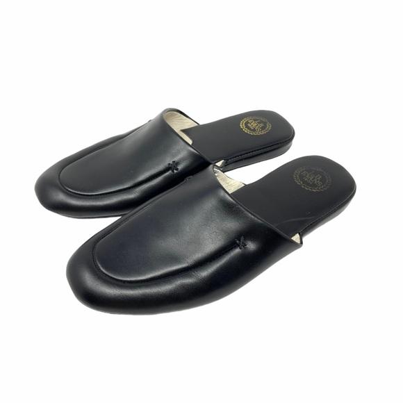 L.B. Evans 1804 Leather Slippers 2761 Black 11 M